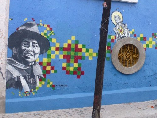 Street mural in Oaxaca City