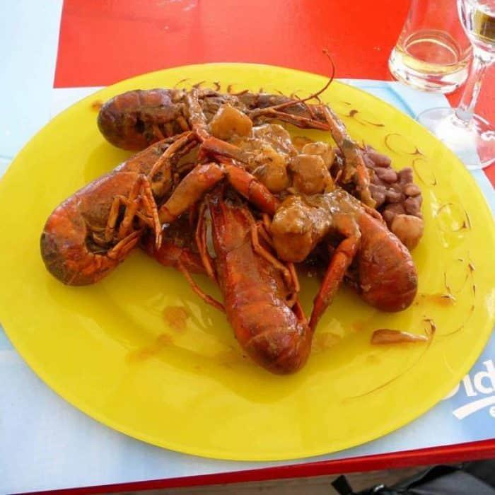 lunch at petitbonum Martinique