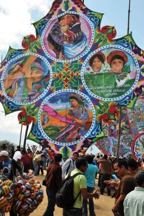 Giant Day of the Dead kites of Sumpango, Guatemala