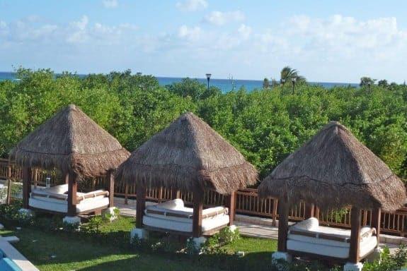 Bali beds at Paradisus Resort, Playa del Carmen Mexico