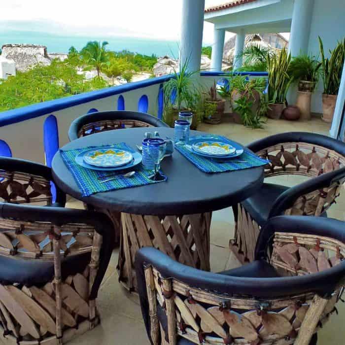 terrace with ocean view Eglantina Condominiums
