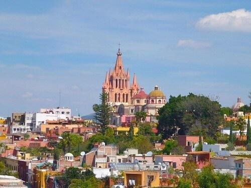 Skyline of San Miguel de Allende, Mexico