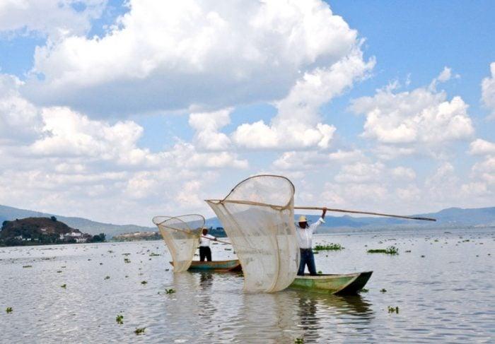 Dia de Muertos fishermen of Isla de Janitzio Michoacan Mexico