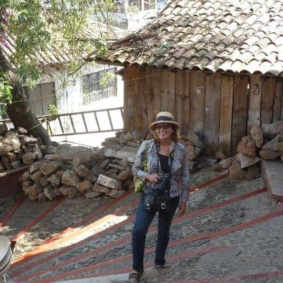 Michele Peterson retracing the steps of the ghostly guardians in Janitzio, Michoacan