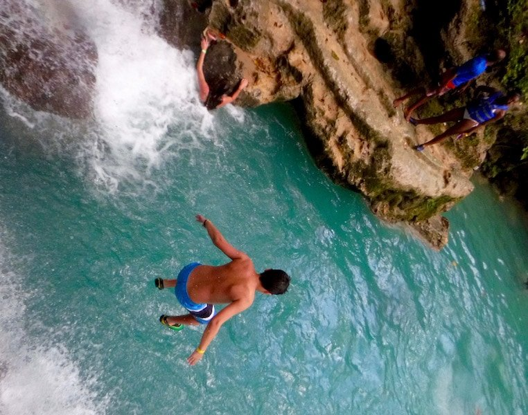 Jump into the clear waters of the Blue Hole in Jamaica Credit Jaden Gonsalves