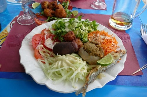 Boudin and other traditional cuisine in Martinique.