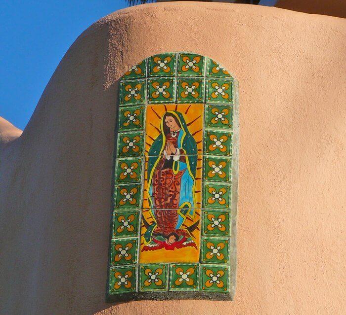 Virgin of Guadalupe talavera tile