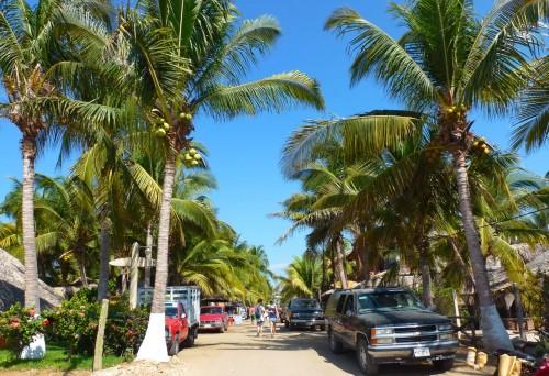 Main Street in La Punta, Puerto Escondido