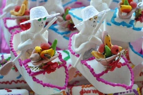 Day of the Dead sugar skull candies in Oaxaca City Mexico