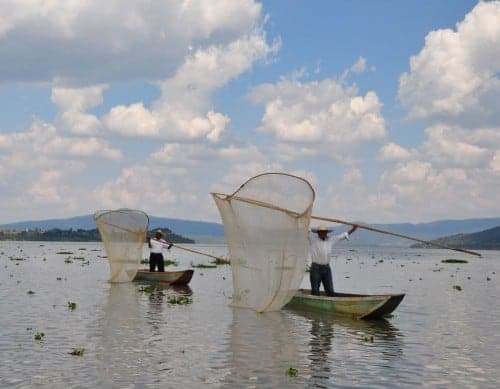 Fishermen on Lago de Patzcuaro