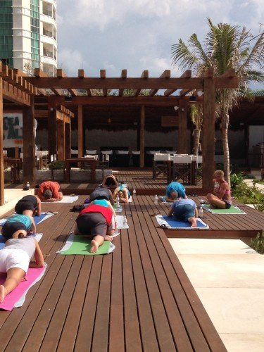 Yoga class at Secrets The Vine Cancun Credit: Irene L. Levine