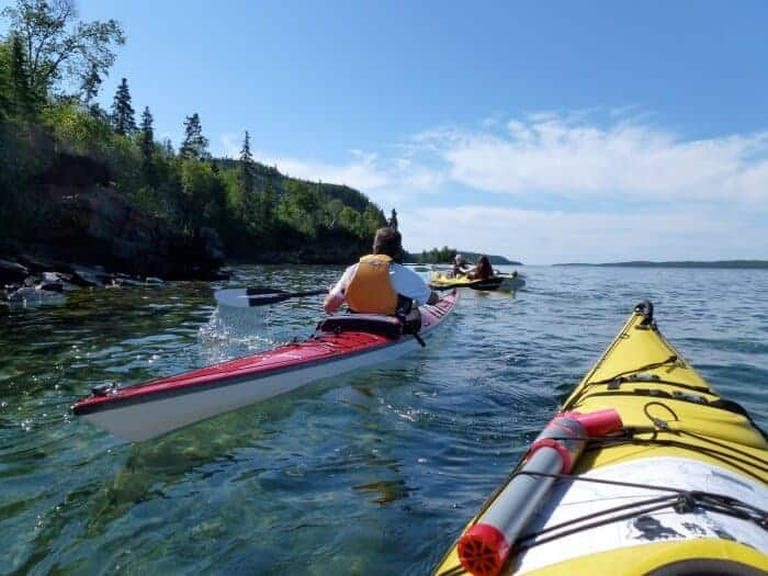Kayaking in Lake Superior National Marine Conservation Area