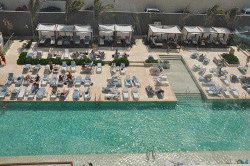 One of several swimming pools at Secrets The Vine Cancun