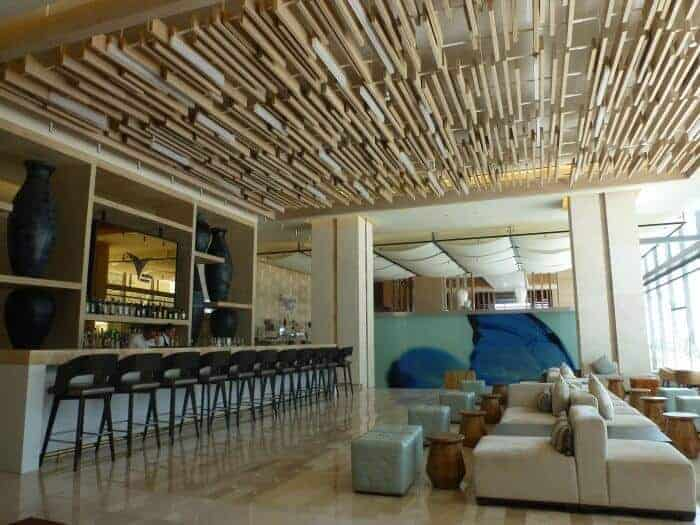 Lobby bar at Secrets The Vine Cancun.