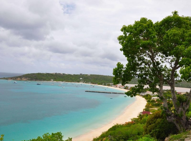 View of one of the 33 beautiful beaches on Anguilla