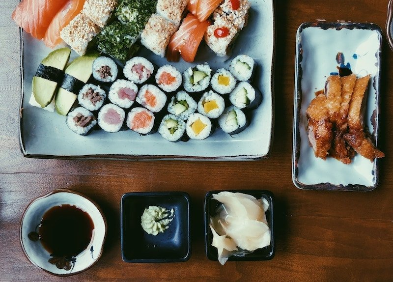 Sushi Photo with wasabi by Pille-Riin Priske on Unsplash.