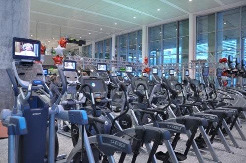 GoodLife Fitness Machines at Toronto Pearson