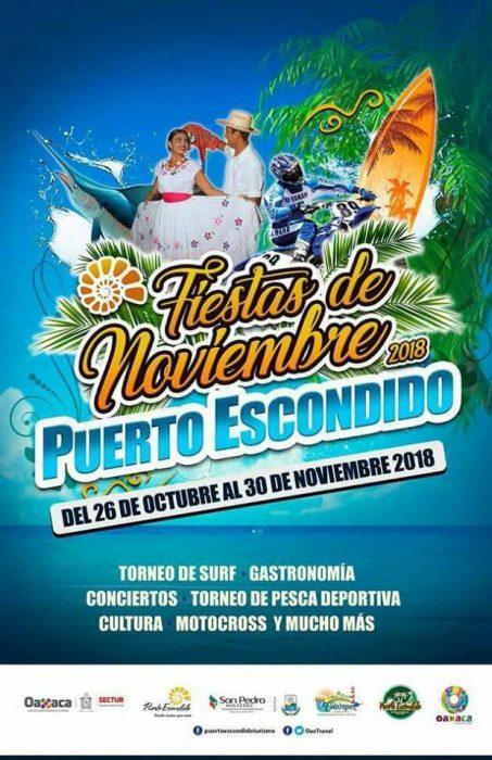Fiestas de Noviembre Puerto Escondido 2018