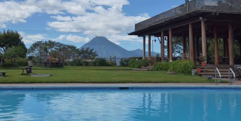 Swimming pool at Hotel Porta del Lago in Panajachel Guatemala