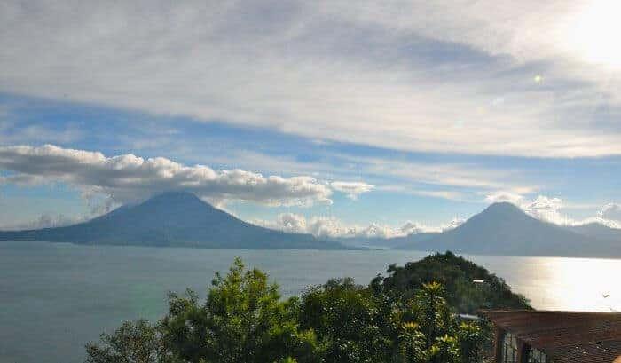 View of Lake Atitlan from San Jorge la Laguna Guatemala