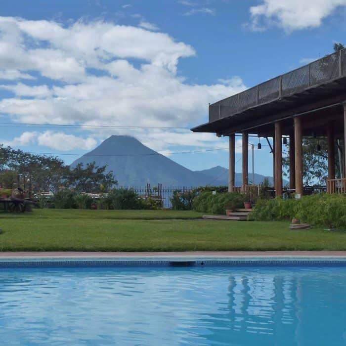 Swimming pool at Pool at Hotel Porta del Lago Lake Atitlan.