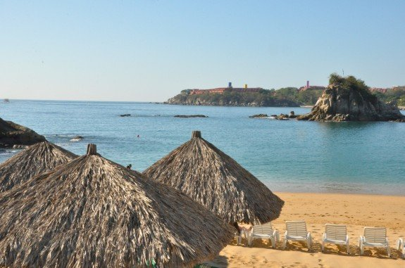 Beach view at Dreams Huatulco