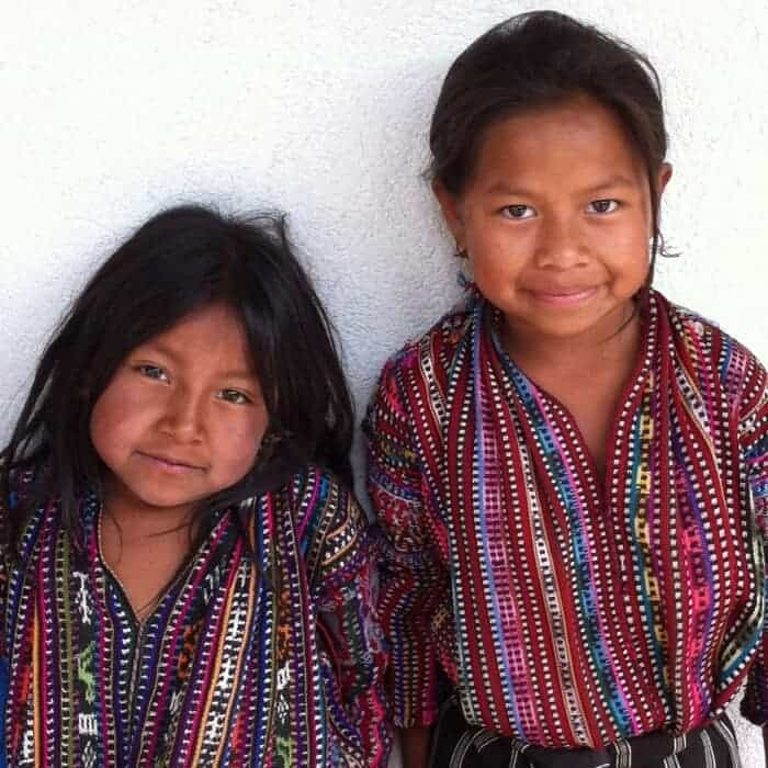 Young girls in Solola Guatemala
