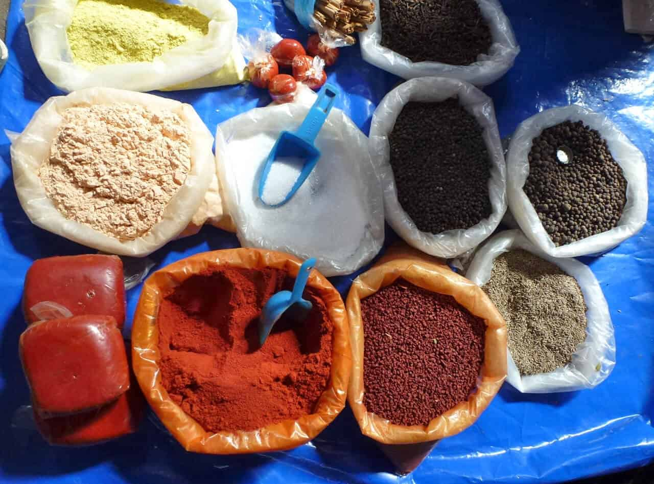Achiote and spices in Solola Market