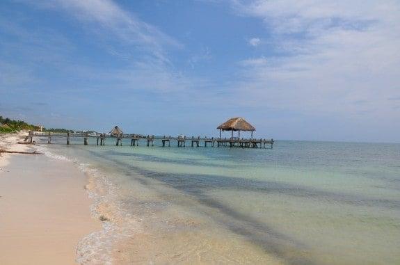 Beach at Zoetry Resort in Puerto Morelos, Mexico