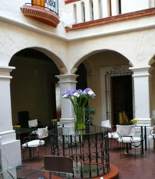Courtyard at Casa Catarina, Oaxaca City
