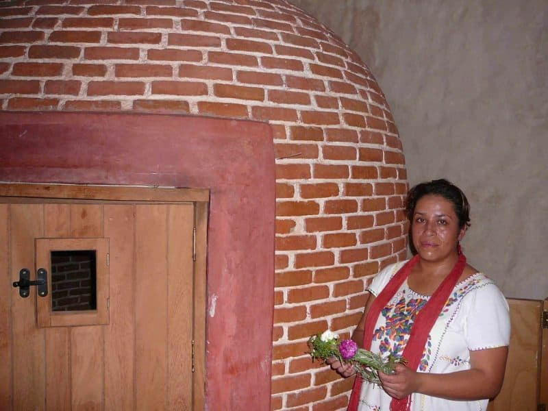 temazcal in Oaxaca City Mexico