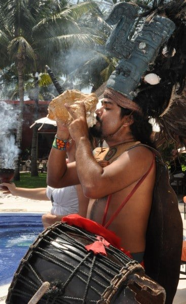 Purification ritual by the shaman