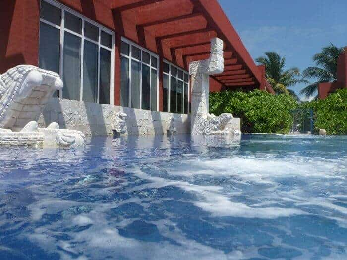 Bubbling water at the Thalasso Spa at Zoetry Paraiso in Puerto Morelos, Mexico.