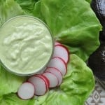 Creamy avocado salad dressing with A Taste for Travel