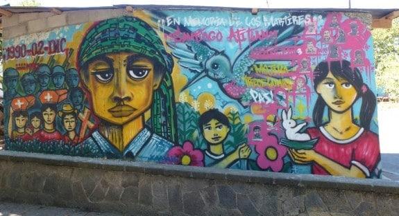 Mural in Peace Park of Santiago Atitlan, Guatemala