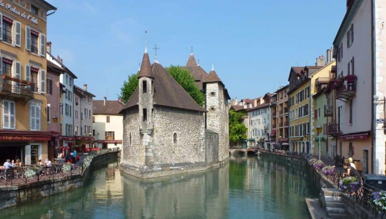 Beautiful canals of Annecy