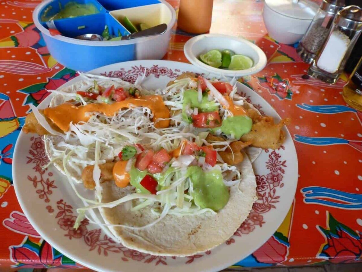 Fish tacos at Dan's Cafe Deluxe