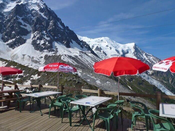 Aiguille du Midi on panoramic Mont-Blanc