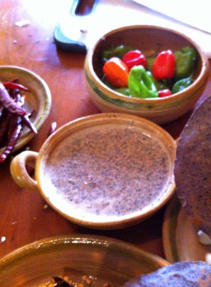 salsa de chicatanas ( ants) Photo Credit The Mexykan