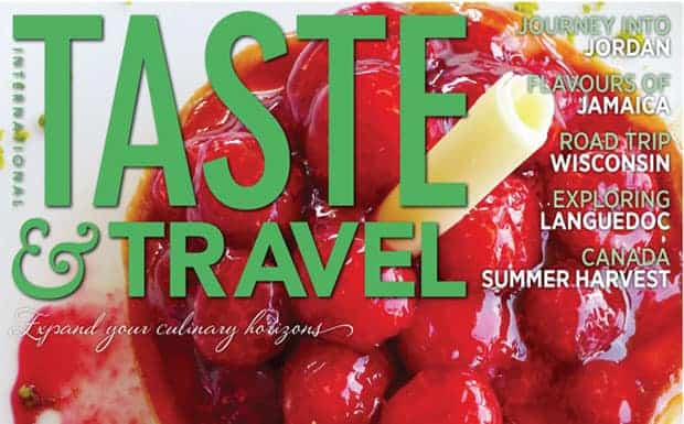 Taste & Travel magazine Summer 2014 cover
