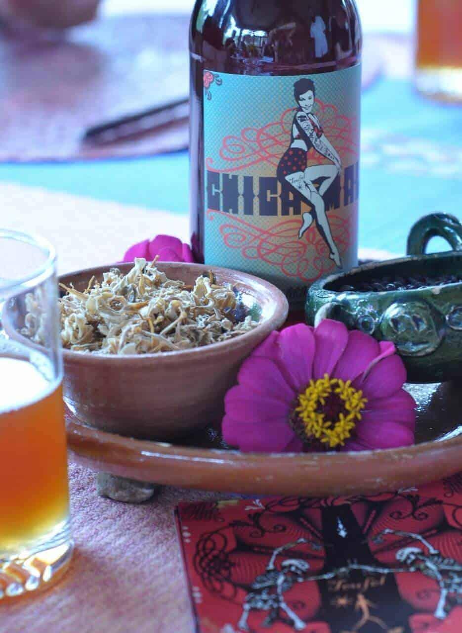 Chica Mala beer brewed at Teufel Nanocerveceria Oaxaca Mexico