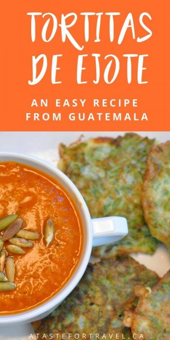This easy Guatemalan recipe for tortitas de ejote makes a batch of green bean pancakes perfect for a vegetarian breakfast, lunch or appetizer #Guatemala #recipe #vegetarian