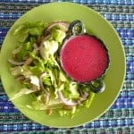 Healthy prickly pear and chia salad dressing