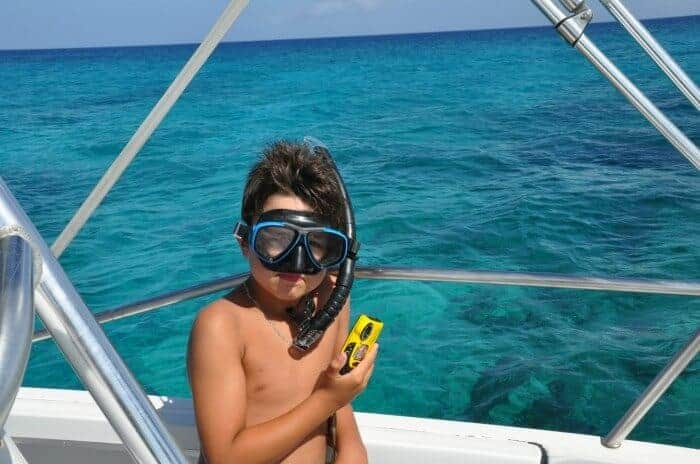 Ready to snorkel in Turks and Caicos