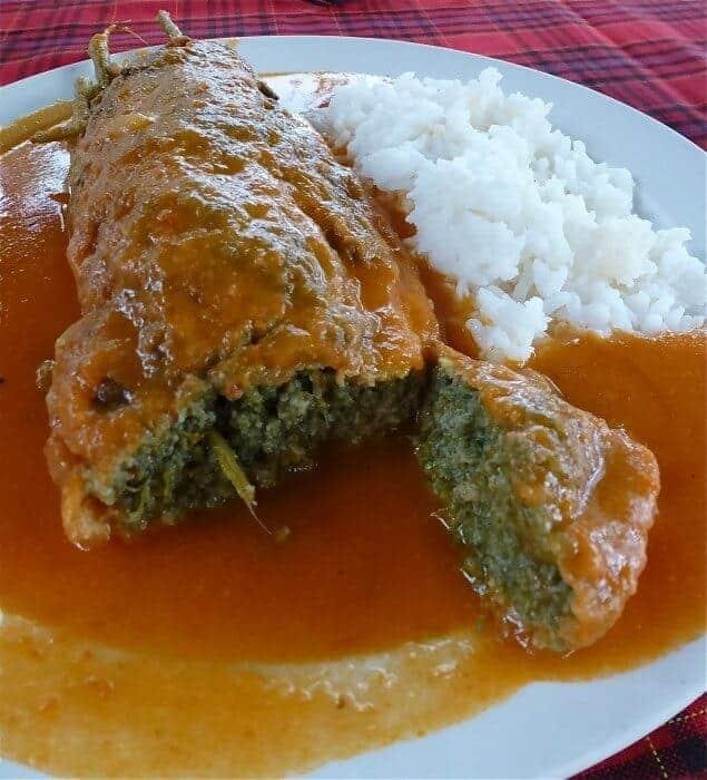 Huauzontle prepared Guerrero style