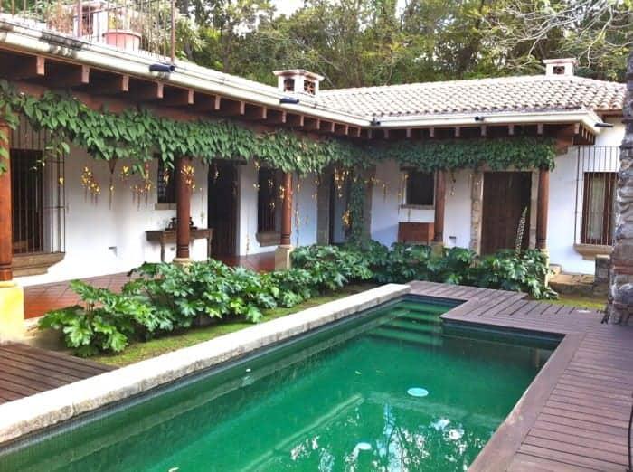 Courtyard at historic Hotel Cirilo in Antigua Guatemala