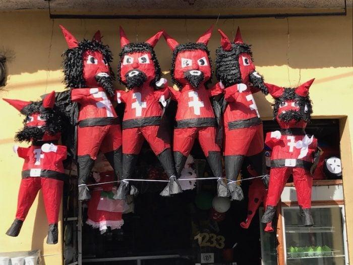 Pinata for Quema del Diablo in Guatemala