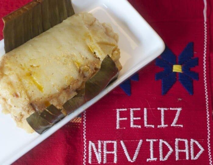 Tamale at Navidad Guatemala celebration