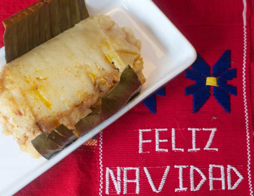 Tamale at Navidad Guatemala celebration