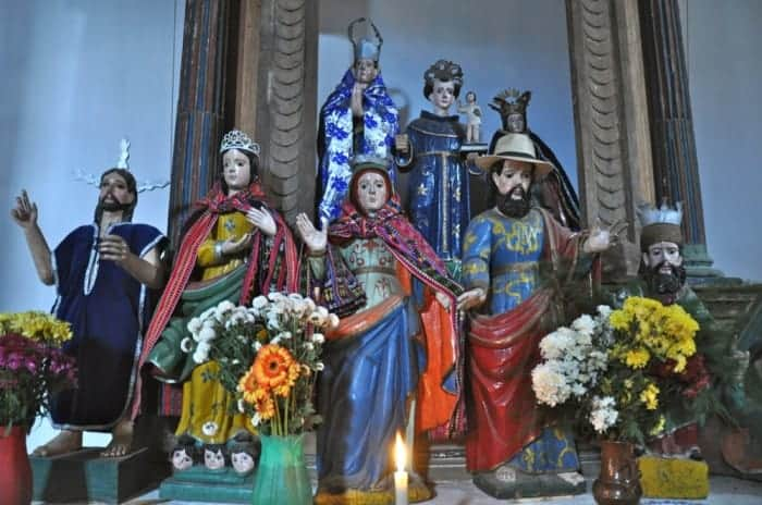 Statues of saints in Concepcion Solola Guatemala